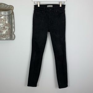 Madewell High Riser Skinny Black Jeans size 26